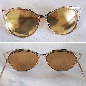 Michael Kors MK1020 Rose gold mirror sunglasses
